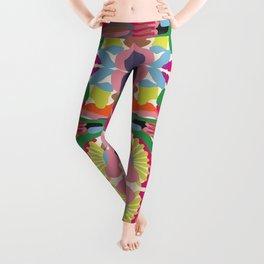 Colorful Carnival - Vibrant Colors and Geometric Shapes Leggings