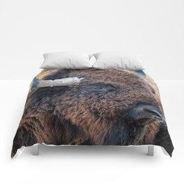 OLena Art Bison the Mighty Beast - Bison das mächtige Tier North American Wildlife Comforters