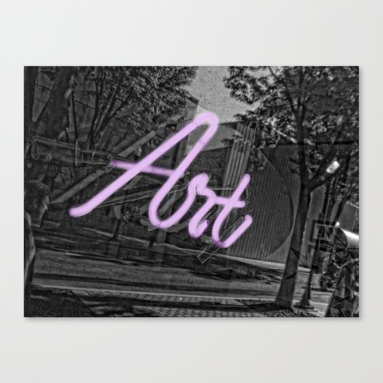 Neon Art Canvas Print
