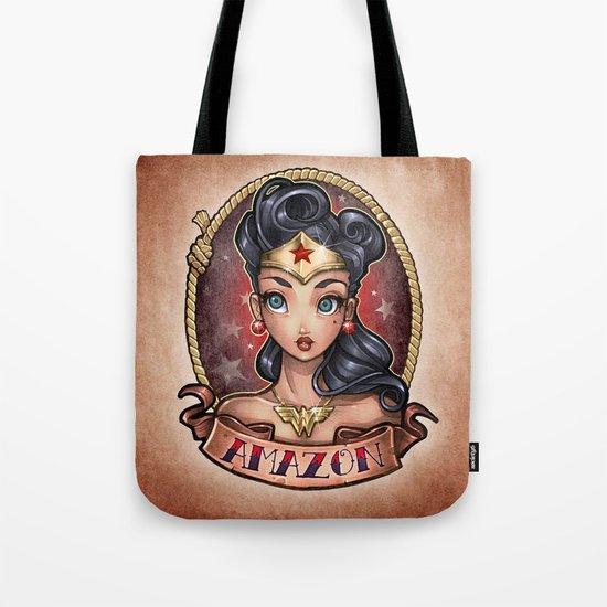 Amazon Pinup Tote Bag