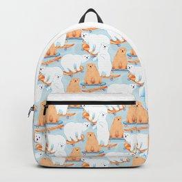 Skateboarding Bears Backpack