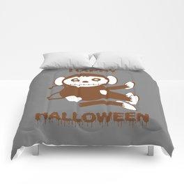 Dead Monkey Happy Halloween Comforters