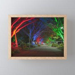 Avenue of lights Framed Mini Art Print