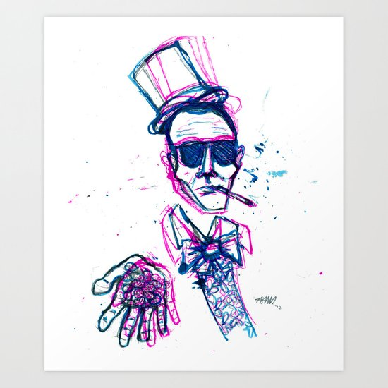 hunter s. wonka Art Print