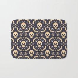 Happy halloween skull pattern Badematte