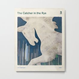 J. D. Salinger's The Catcher in the Rye - Literary book cover design Metal Print