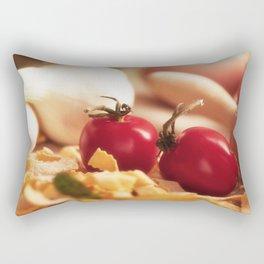 Fresh tomatoes for Italian pasta Rectangular Pillow