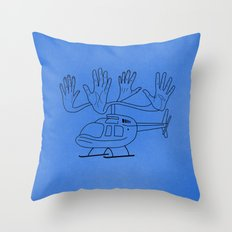 HELLOcopter Throw Pillow