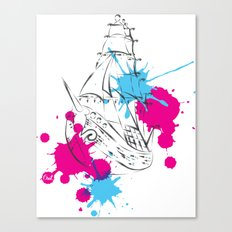 out boat Canvas Print