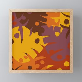 Colorful Graphic Autumn Leaves Framed Mini Art Print