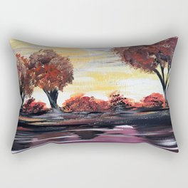 Autumn Sundown Rectangular Pillow