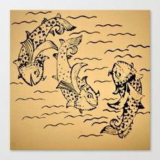 Dancing Fish 2 Canvas Print
