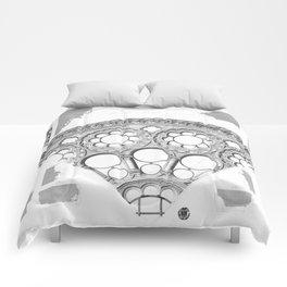 Notre Dame Rose Window Facade Architecture Comforters