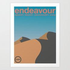 endeavour single hop Art Print