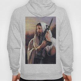 Assault Rifle Jesus Christ Messiah - Who WOuld Jesus Shoot Hoody