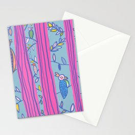 Tropical curtains Stationery Cards