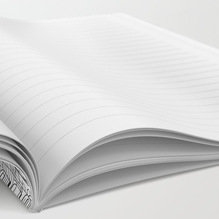 Boston White Map Notebook