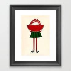 Melone girl Framed Art Print