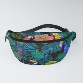 Tropical Birds and Botanicals Fanny Pack