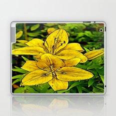 Fractal Lily Laptop & iPad Skin