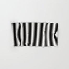 Simple Black & White Licorice Cabana Stripe Hand & Bath Towel