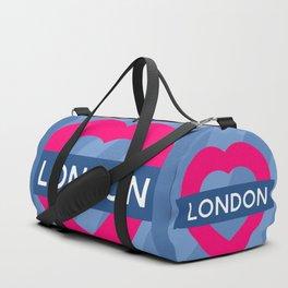 London Heart Duffle Bag