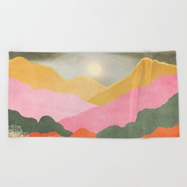 Colorful mountains Beach Towel