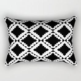 Modern Black Rectangular Pillow