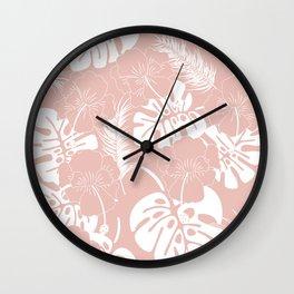 Tropical pattern 020 Wall Clock