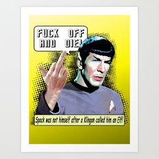 Spock.... Art Print