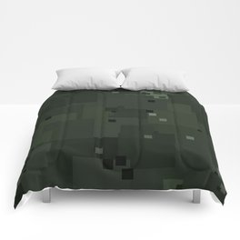 Duffel Bag Square Pixel Camouflage Color Accent Comforters