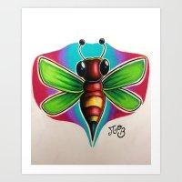 Bee Bumble Art Print