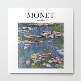 Monet - Water Lilies Metal Print