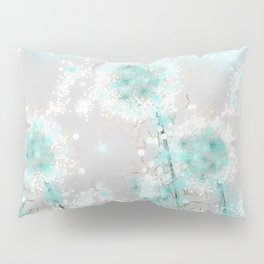 Dandelions in Turquoise Pillow Sham