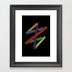 Folded Abstraction Framed Art Print
