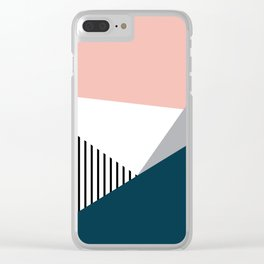 Colorful geometry 2 Clear iPhone Case