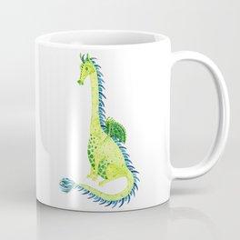 Lime Green Watercolor Dragon Coffee Mug