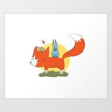 foxy friends. Art Print