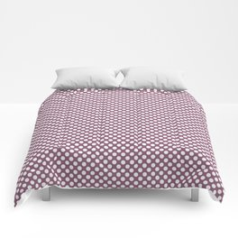 Grape Nectar and White Polka Dots Comforters