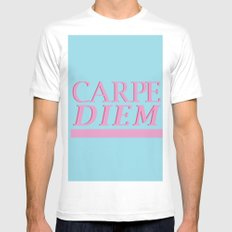 Carpe Diem blue White MEDIUM Mens Fitted Tee