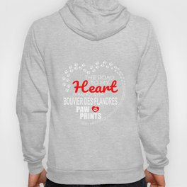 The Road To My Heart Is Paved With Bouvier Des Flandres Paw Prints Hoody