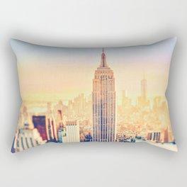 New York City Sunset Glow Rectangular Pillow