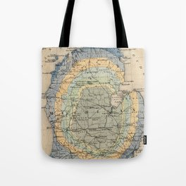 Vintage Michigan Geology Map (1873) Tote Bag