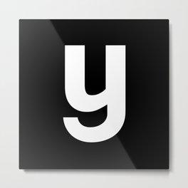 letter Y (White & Black) Metal Print