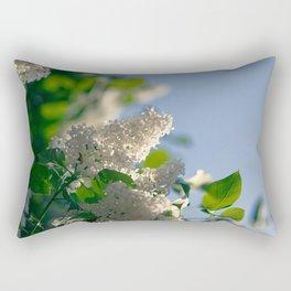 White Syringa vulgaris lilac Rectangular Pillow