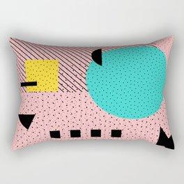 Hello Memphis Peach Berry Rectangular Pillow