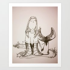 Sally's a Seal Art Print