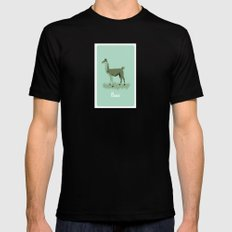 4-legged Exotica Series: Llama Black LARGE Mens Fitted Tee