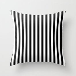 Stripe Black & White Vertical Throw Pillow