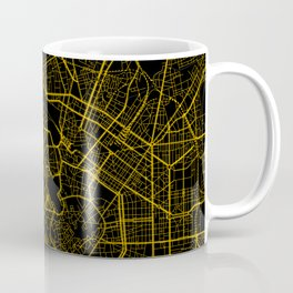 Milan - Italy Gold City Map Coffee Mug